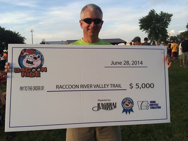 BACooN RIDE Donates to Help Pave Raccoon River Valley Trail Crossings