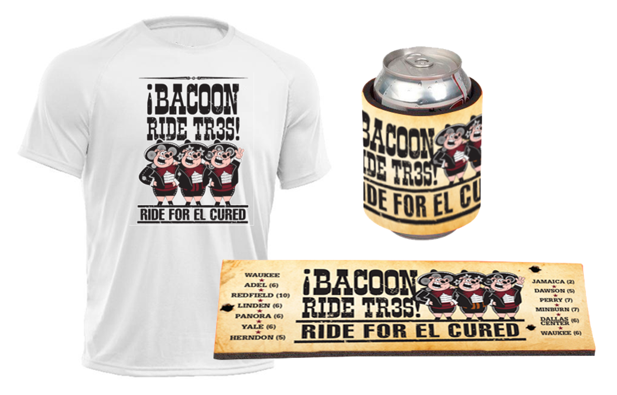 Check out the Sweet BACooN RIDE TR3S SWAG You Will Receive!